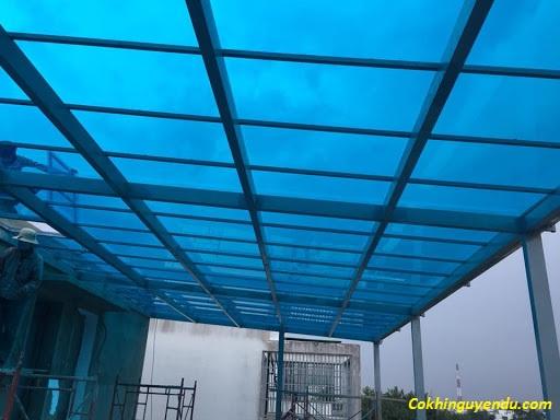 Làm mái nhựa poly lấy sáng tại Biên Hòa