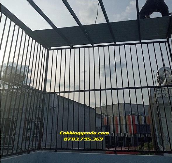 Làm khung sắt bảo vệ tại Biên Hòa
